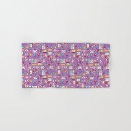 Proud To Be a Nurse Pattern / Purple Hand & Bath Towel