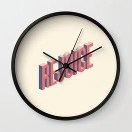 Rejoice Wall Clock