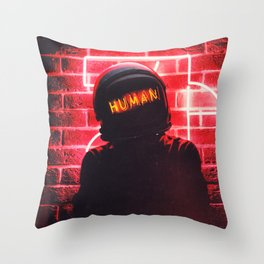 Just Being Throw Pillow