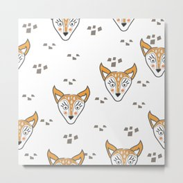 Foxes Metal Print