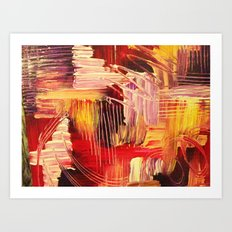 RHAPSODY IN MAGENTA- Beautiful BOLD Modern Abstract Wild Acrylic Painting Crimson Hot Pink Purple Art Print