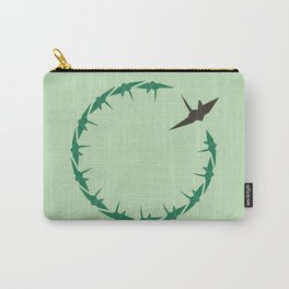Origami Bird Circle Carry-All Pouch