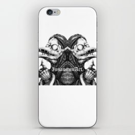 InsanitynArt's Plague Doctors of Death Digitally Doubled Illustration. iPhone Skin