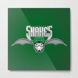 Snakes Slytherin Metal Print