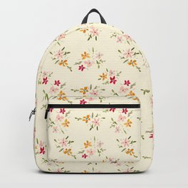 Wes Anderson Inspired Floral Bouquets Backpack