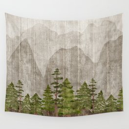 Mountain Range Woodland Forest Wall Tapestry