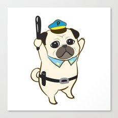 Animal Police - Pug Canvas Print