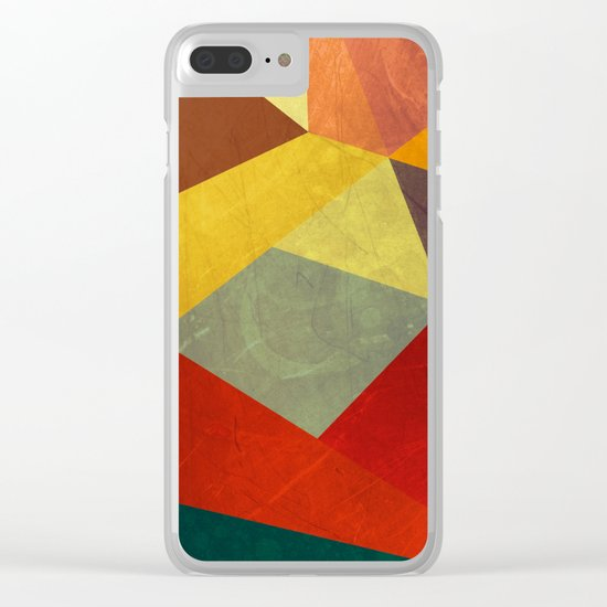 Abstract #294 Clear iPhone Case