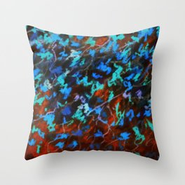 Organic Scribble Abstract Throw Pillow