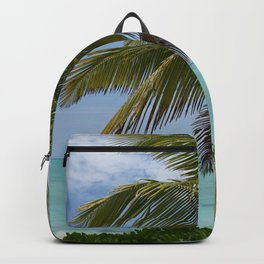 Tropical Paradise With Palm Backpack