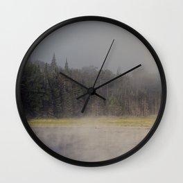 foggy morning Wall Clock