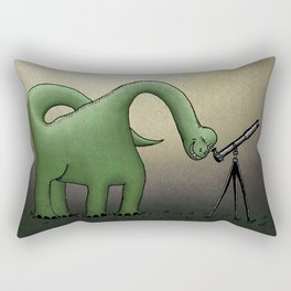 Dino Astronomer Rectangular Pillow