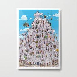 Bubble climbing Metal Print