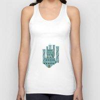 castle in the sky Tank Tops featuring Sky castle simple by loligo