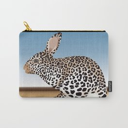 Rabbit Guepard Pattern Carry-All Pouch