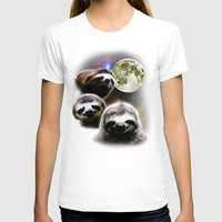 sloths T-shirts featuring Funny Space Sloths by robotface