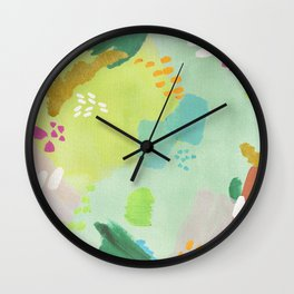 Bright Paints + Gold Wall Clock