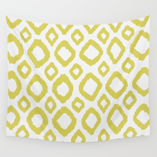 Ikat Lime/Green Wall Tapestry