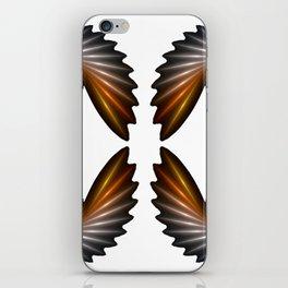 Fractal Art - Silver Spiral 4 iPhone Skin