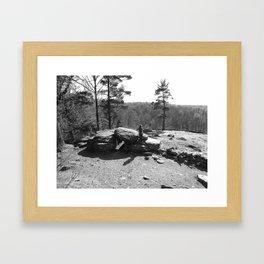 Looking On Framed Art Print
