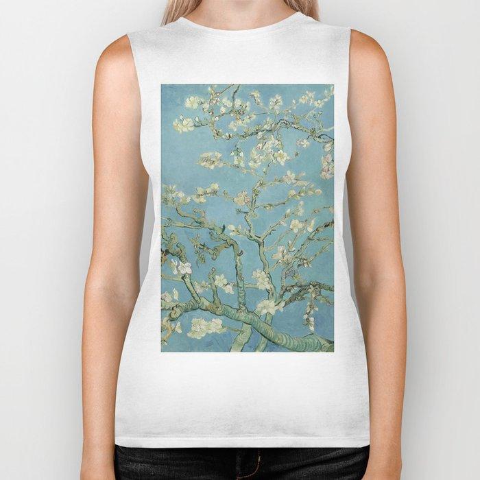 Almond Blossoms Biker Tank