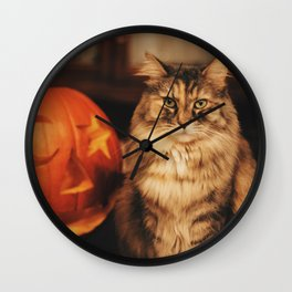 Cat by Karly Jones Wall Clock