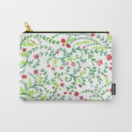 Little Red Flowers - by Fanitsa Petrou Carry-All Pouch