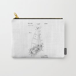 patent art Court Sailboat 1964 Carry-All Pouch