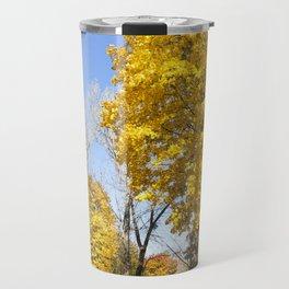 trees in the autumn season Travel Mug
