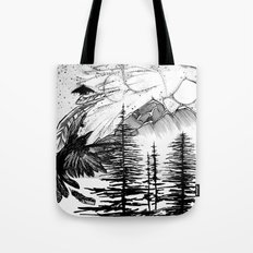 Murder on the Mountain Tote Bag