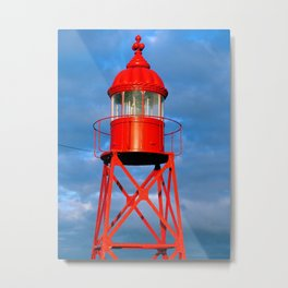 Small red lighthouse Metal Print