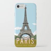 travel poster iPhone & iPod Cases featuring Paris 2 Travel Poster by Michael Jon Watt