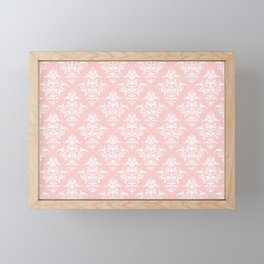 Damask Pattern | Rose Quartz | Pantone Color of the Year 2016 Framed Mini Art Print
