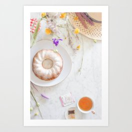 bundt cake Art Print