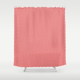 Baby Sharkstooth Sharks Pattern Repeat in White and Red Shower Curtain