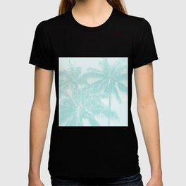 Palm Trees Cyan Kihei Maui Hawaii T-shirt
