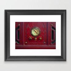 Compass Radio Framed Art Print