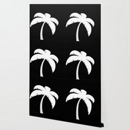 Palm Tree - Black and White Art Wallpaper