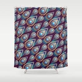 Turkish Blue Shower Curtain
