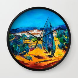 Sunny Day In Provence Wall Clock