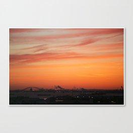 Sunset sky Canvas Print