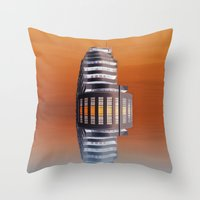 art deco Throw Pillows featuring Art Deco by Shalisa Photography