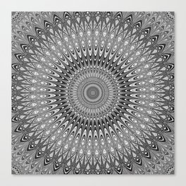 Grey mandala Canvas Print
