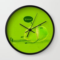 lime Wall Clocks featuring Lime by Lime