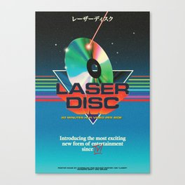 LASER DISC Canvas Print