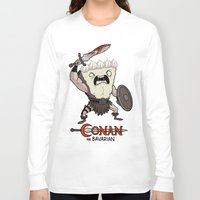 conan Long Sleeve T-shirts featuring Conan The Bavarian by Bobby Baxter