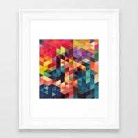 sword Framed Art Prints featuring pattern sword by Alexandr-Az