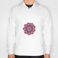 hippy Hoodies featuring Hippy Mandala - Magenta Edition by Ciro Design