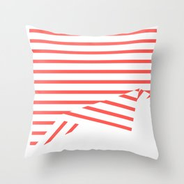 Line Fold Throw Pillow