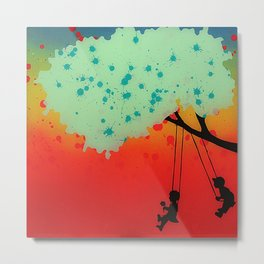 swinging kids Metal Print
